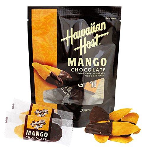ハワイお土産 ハワイアンホースト Hawaiian Host ドライマンゴーチョコレート ミニバッグ5個入り