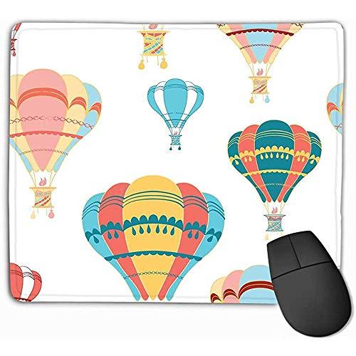 Uitgebreide muismat, muismat luchtballon decoratieve heldere kleuren stof ontwerp achtergrond kinderen textiel sjabloon rechthoek rubber muismat 25X30Cm