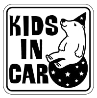 Sticker Shop Haru KIDS IN CAR マグネット くま 角型 ブラック