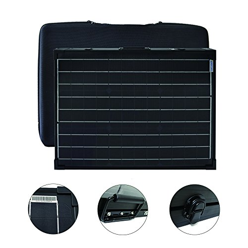 ACOPOWER 100W Portable Solar Panel Kit, Waterproof 20A Charge Controller for Both 12V Battery and Generator ...