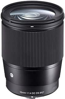 プロフェッショナルカメラレンズ、16 / 1.4レンズ16mm f1.4 DC DN現代レンズ、ソニーEマウントカメラに最適、黒A6500 A6300 A6000 A5100 A5000。