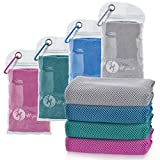 U-pick 4 Packs Cooling Towel (40'x 12'), Ice Towel,Microfiber Towel,Soft Breathable Chilly Towel for Yoga,Sport,Gym,Workout,Camping,Fitness,Running,Workout&More Activities