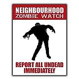 None Brand Neighbourhood Zombie Watch Tin Metal Sign Bar Retro Wall Decor Poster Home Club Tavern Wall Door Painting Ornament