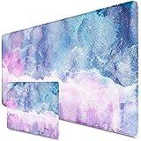 Beydodo Alfombrilla de ratón XXL, 900 x 400 x 3 mm, grande, multifunción, gran alfombrilla para ratón para roaming estrellado, elementos de mármol rosa