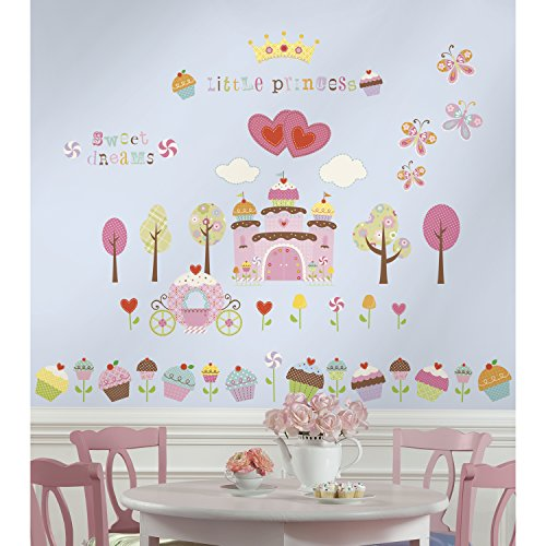 RoomMates Happi Cupcake Land Peel and Stick Wall DecalsMulticolor