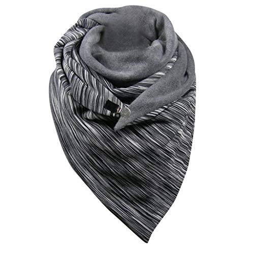 Zilosconcy Bufandas para Mujer Invierno Bufanda de de Punto Casual Bufanda Caliente Moda Cuello Alto Bufanda Chales Fulares Gorro y Bufanda Shawls