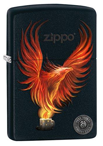 Zippo Lighter: Anne Stokes Firebird - Black Matte 77067