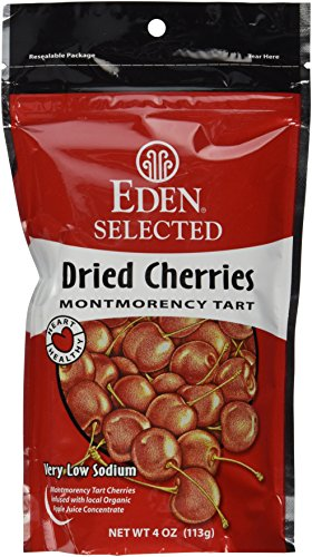 Eden Selected Dried Montmorency Cherries 4Ounce Pouches Pack of 3