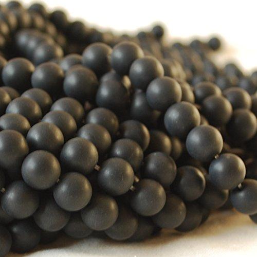 Agate noire naturelle pierre semi-précieuse de haute qualit - 10mm