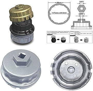 WINOMO AUTO Oil Filter Wrench Perfect for Lexus RAV4 Toyota Tundra Oil Filter Housings