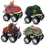 ATOPDREAM Giocattoli Bambino 2-8 Anni,Pull Back E Go Mini Dinosauro Giocattolo Auto Regali per Bambini di 2-8 Anni Macchinine Giocattolo per Bambini Giochi per Bambini di 3 Anni (4 PCS)