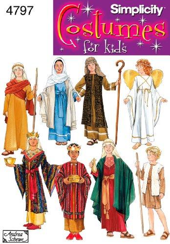 Simplicity 4797 A - Patrón de Costura para Disfraces Infantiles