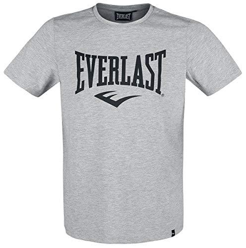 Everlast Sports - Maglietta a Maniche Corte, da Uomo, Taglia L, Colore: Grigio Scuro