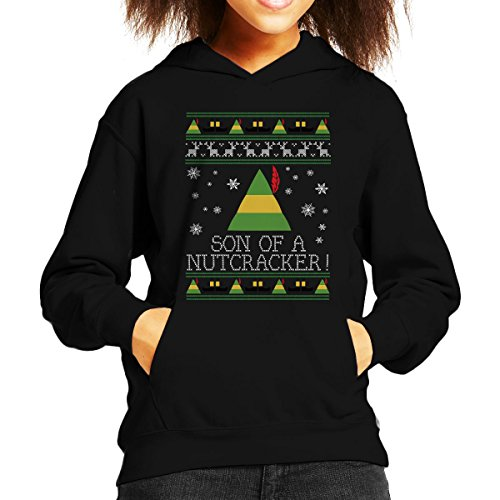 Cloud City 7 Zoon van een notenkraker Elf Citaat Kerstmis Knit Kid's Hooded Sweatshirt