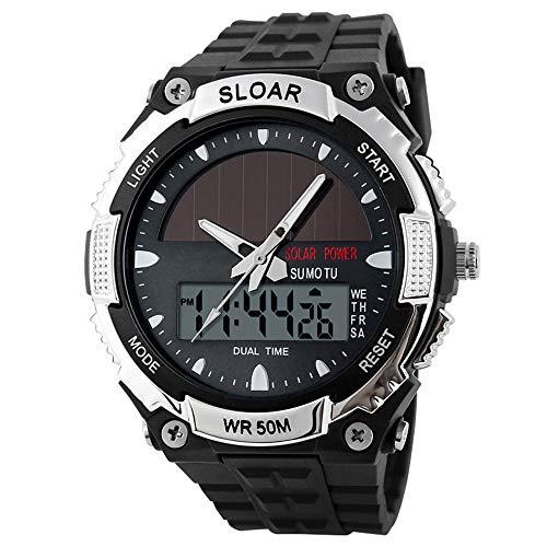 Leaftree - Reloj de Moda para Hombre Relojes electrónicos Hombre Energía Solar