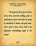 Winston Churchill Zitat Churchill Zitat Never Give Up Zitat