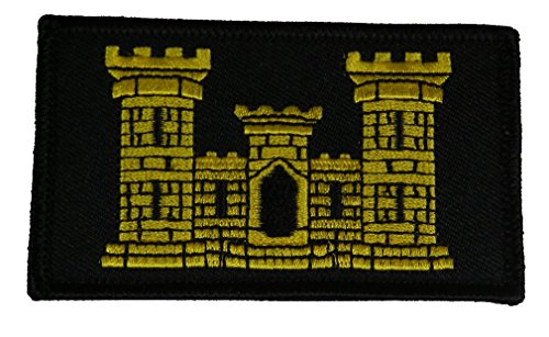 U.S. ARMY ENGINEERS CASTLE 2 PIECE PATCH - Subdued Hook and Loop - Veteran Owned Business.