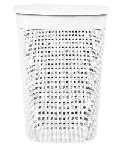 Ondis24 Wäschebox Wäschekorb Filo 55 Liter (weiß)