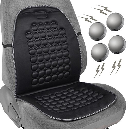 Magnetic Bubble Seat Cushion - Massage Therapy - 1pc Padded Cover (Black)