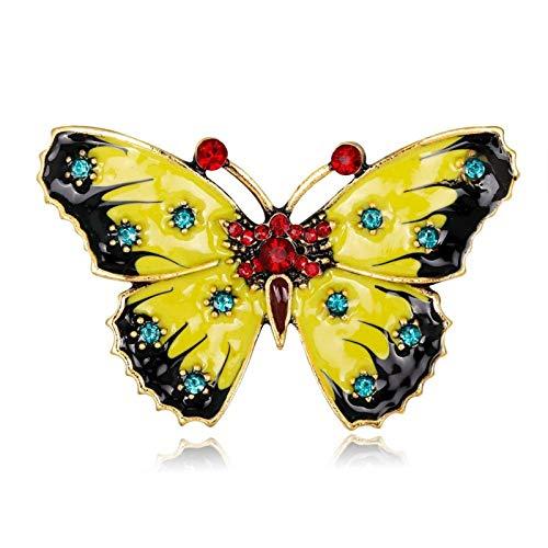 Personalizado Moda Esmalte de la Mariposa Broche Velo Hijab Pines for los niños de Las Joyas de Insectos Pin Regalo del Partido Accesorio para decoración de Ropa (Metal Color : F)