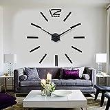 Reloj de Pared silencioso de Cuarzo con Pilas,Reloj de Pared Moderno de Barrido silencioso Relojes Decorativos de Cuarzo silencioso Reloj Colgante,Size:27Inch
