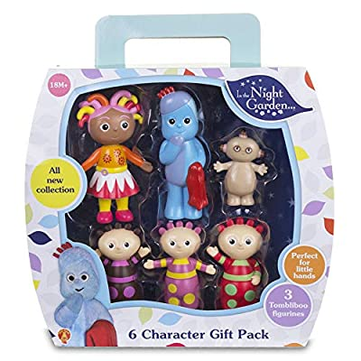 Kids In The Night Garden Figurines Gift Box with carry handle containing 6 Characters, up to 10cm tall, Toddler Girl Toys and Toddler Boy Toys 1648 from Golden Bear Products Ltd