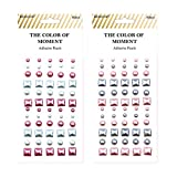 Desecraft 120pcs Self-Adhesive Pearls Stickers 2 Sheets Flatback Pearls Embellishments for Arts DIY Crafts Scrapbooking Card Making Bags Decorations