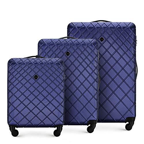 WITTCHEN Koffer – Set of 3   hartschalen, Material: ABS   hochwertiger und Stabiler   Dunkelblau   Verschiedene Größen