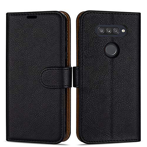 """Case Collection Hochwertige Leder hülle für LG K50S Hülle (6,5\"""") mit Kreditkarten, Geldfächern und Standfunktion für LG K50S Hülle"""