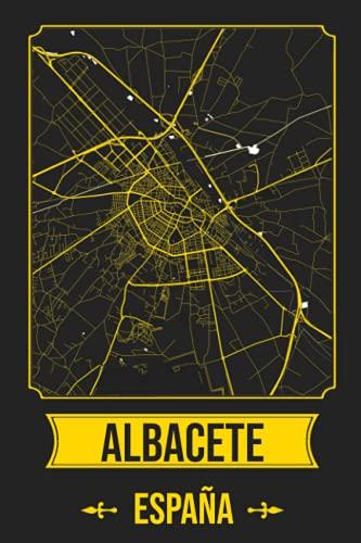 ALBACETE España Cuaderno: Squareious de la Ciudad de ALBACETE, Hoja Forrada, Diario 200 PÁGINAS, 6x9