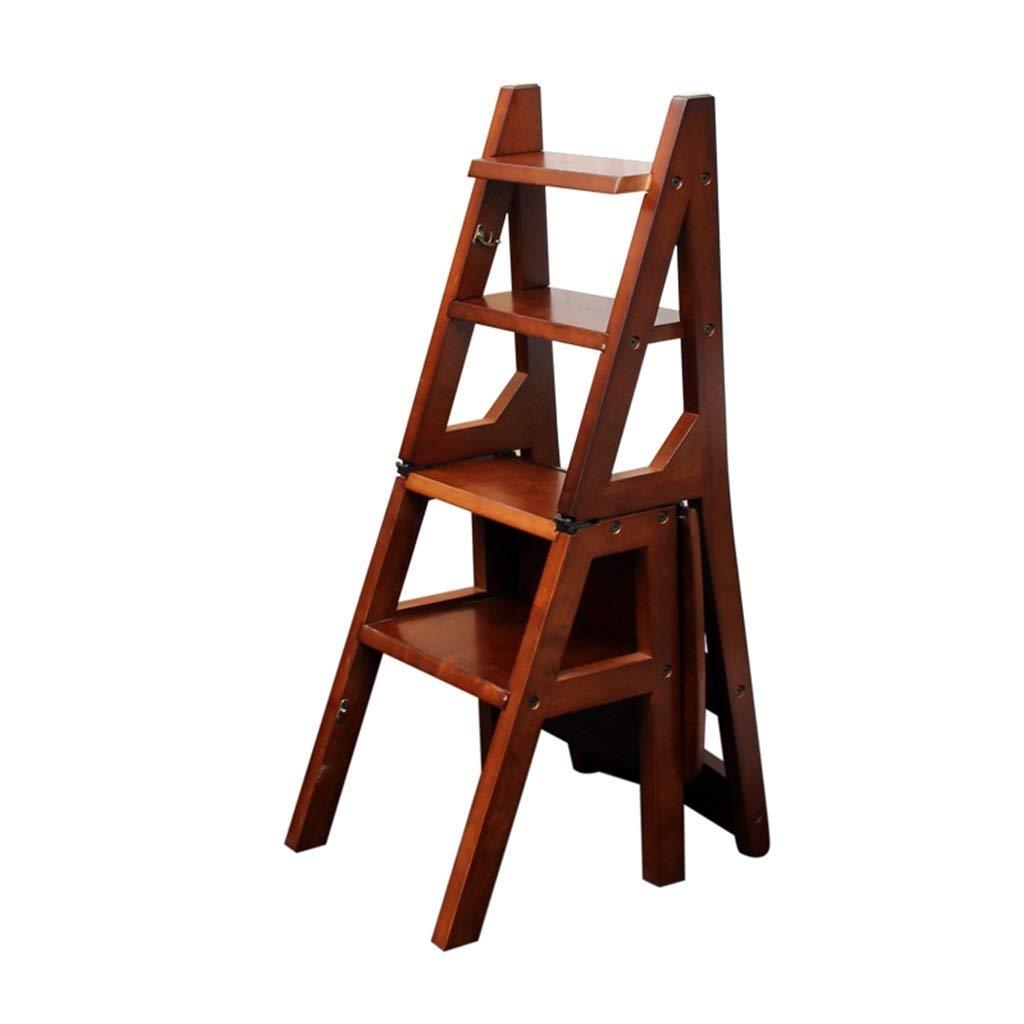 ACZZ Escaleras de tijeras Taburetes plegables Taburete de 4 peldaños Madera Ligera y plegable Escalera de seguridad para niños Adultos Home Garden Tool Diy, sostiene hasta 150 Kg: Amazon.es: Bricolaje y herramientas