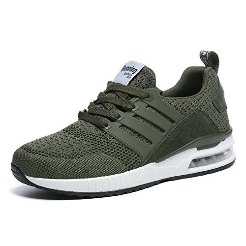 tqgold Herren Damen Sportschuhe Laufschuhe Bequem Atmungsaktives Turnschuhe Sneakers Gym Fitness Leichte Schuhe (Grün,Größe 39)