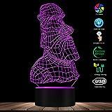 LED Bluetooth inalámbrico Luz colorida Moderna Isla de Pascua Estatua de piedra Moai 3D Lámpara de ilusión óptica Misterio Rapa Nui Monolitos Mesa de luz mágica LED Lámpara visual