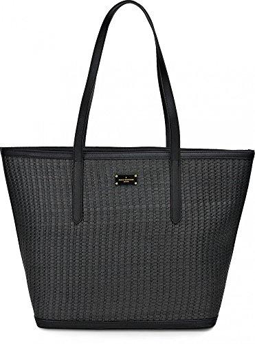 Pauls Boutique, Cleo, Damen Handtaschen, Schultertaschen, Shopper, Strandtaschen, Henkeltaschen, Schwarz, 50 x 35 x 19 cm (B x H x T)