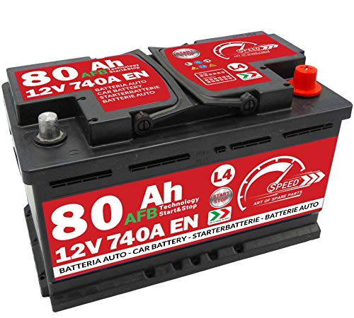 BATTERIA AUTO SPEED L4 AFB Start & Stop - 12V 80Ah 740A +DX