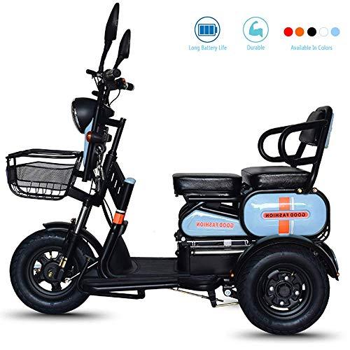 DONG Elektro-Rollstuhl ältere Menschen mit Behinderungen Smart-Home-Fernbedienung Elektro-Dreirad Brushless-Motorroller Beleuchtung LED steuern, Weiß, 22Aleadacidbattery,Blau,13Aleadacid.