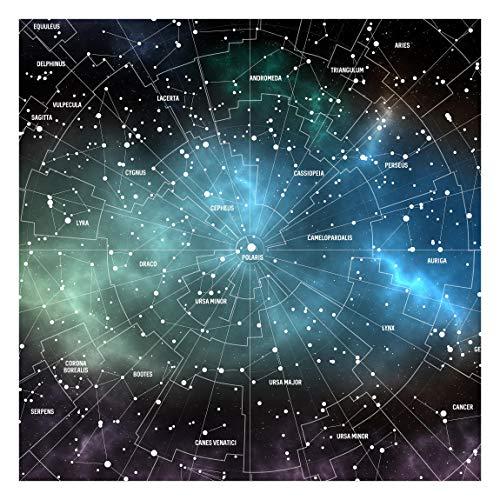 Tapete selbstklebend - Sternbilder Karte Galaxienebel Quadrat 192x192 cm