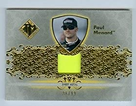 Autograph Warehouse 103537 Paul Menard Race Used Memorabilia Trading Card Nascar Auto Racing Z67 2012 Press Pass No. Tm-Pm