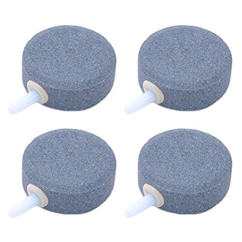 UEETEK Luftblasenstein, rund, für Aquarien, Fischteiche, Grau, 4 Stück