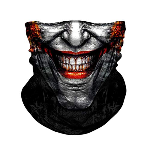 JOEYOUNG Skull Face Mask UV Sun Mask Dust Neck Gaiter Bandana Headwear Fishing