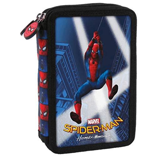 Spiderman 2 Marvel 2-fache Federtasche Federmappe Kinder Federmäppchen Schüleretui 26-teilig gefüllt