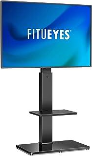 FITUEYES Soporte Giratorio de TV de 32 a 65 Pulgadas con 2 Estantes Soporte de Suelo para Televisión LCD LED OLED Plasma P...