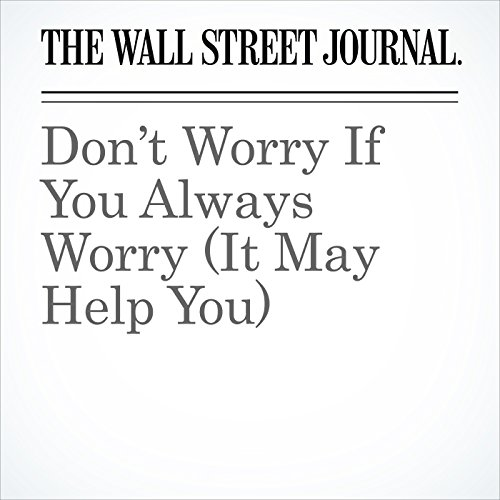 Don't Worry If You Always Worry (It May Help You) copertina