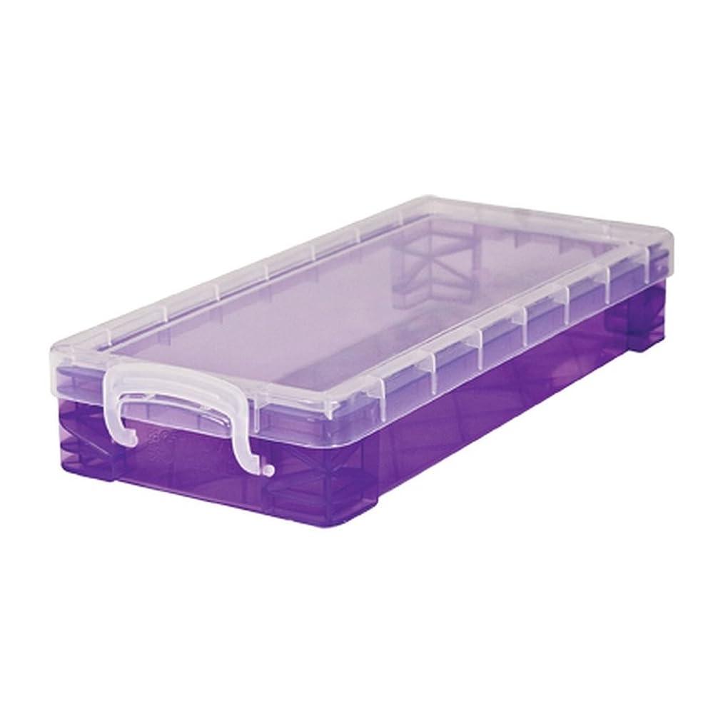 Super Stacker Pencil Box, 8.25 x 1.5 x 4 Inches, Assorted Colors, 1 Box (34365)