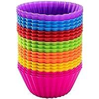 Avana - Moldes de silicona reutilizables para magdalenas (20 unidades), 7 colores