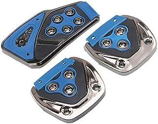 Oshotto 3 Pcs Non-Slip Manual Car Pedals kit Pad Covers Set for Mahindra XUV-300 (Blue)
