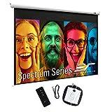 Elite Screens Spectrum, 180-inch Diag 4:3, Electric Motorized 4K/8K Ready Drop Down Projector Screen, ELECTRIC180V