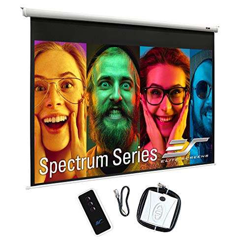 """Elite Screens Spectrum 100"""" Electric Motorized Projector Screen with Multi Aspect Ratio Function, 4:3, Home Theater 8K/4K Ultra HD Ready Projection"""