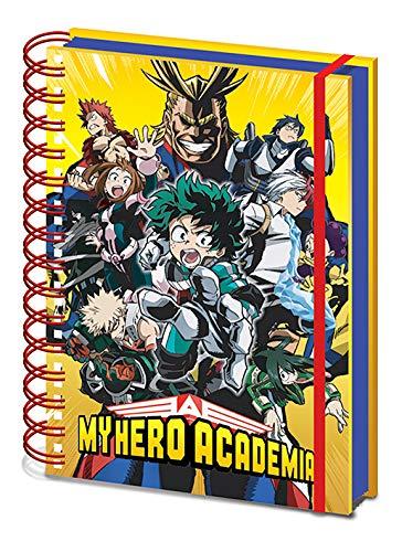 My Hero Academia - Taccuino A5 con rilegatura a spirale (Radial Character Burst)