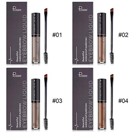 ROMANTIC BEAR Liquide Maquillage Waterproof Durable Brun Gel À Sourcils 4 Couleurs Maquiagem (A5)